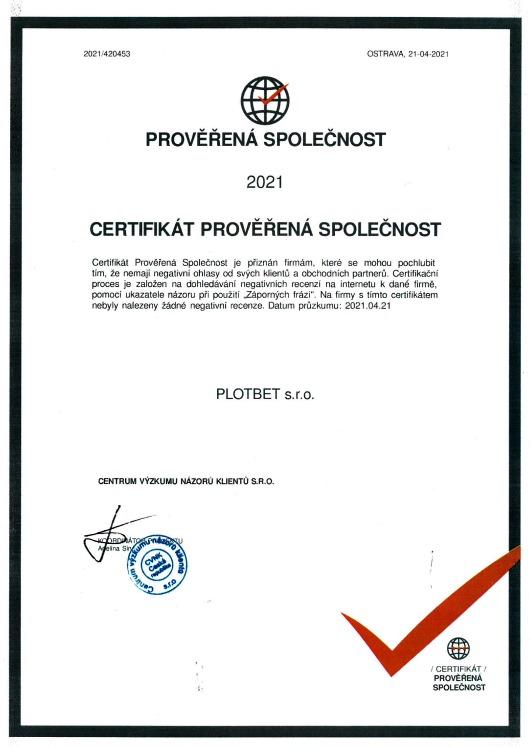 certifikát pravosti